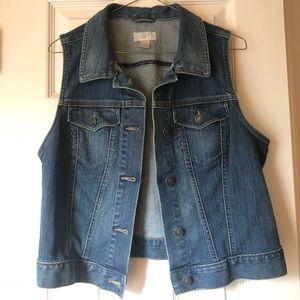 LOFT Sleeveless Denim Jacket